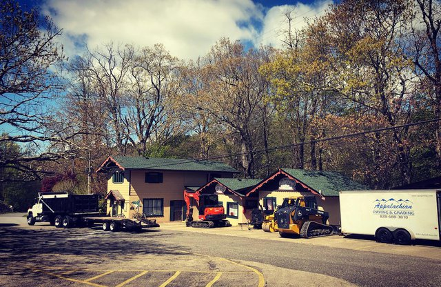 We may not be open for business yet, but we are using this time to continue improving the property. Paving begins this week! #littleswitzerland #blueridgeparkway #visitnc #blueridgemountains #fresh #renovation