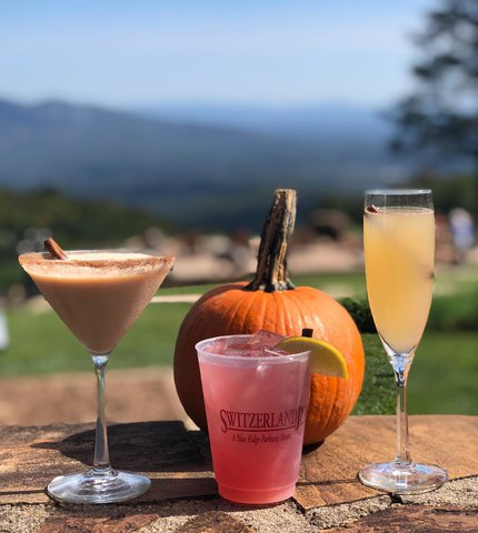 Fall is in the air...along with our favorite seasonal cocktails! 🍁 #fall #autumn #cocktails #fallvibes #littleswitzerland #blueridgeparkway #visitnc #blueridgemountains