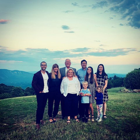 Mr. and Mrs.Townsend spent their honeymoon at the Switzerland Inn fifty years ago. They returned to where it all began with their family to celebrate their 50th wedding anniversary! #family #anniversary #blueridgemountains #visitnc #blueridgeparkway #litt